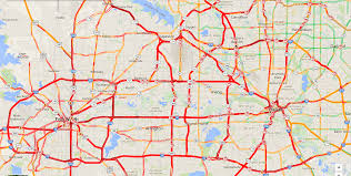 Map Dallas This Traffic Map Of Dallas Fort Worth After Winter Storm Sparta