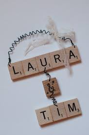 ornaments couples scrabble by thecuckoosboutique 30 00