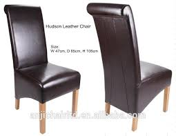 High Back Brown Leather Dining Chairs 20 Collection Of High Back Leather Dining Chairs Dining Room Ideas