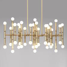 linear pendant lighting meurice rectangle nickel chandelier modern chandeliers