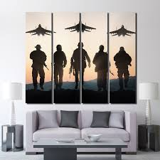 airplane home decor 4 pieces airplane sunset army canvas pictures for living room wall