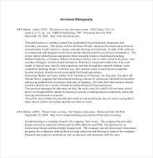 10 teaching annotated bibliography templates u2013 free sample