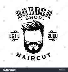 logo barber shop hair salon hipster stock vector 663689071