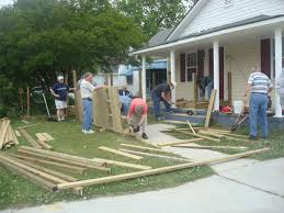 baptist volunteers build hundreds of wheelchair ramps in one day