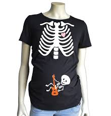 Toddler Boy Halloween T Shirts Halloween Skeleton Maternity Shirt Short Sleeve Guitar Baby