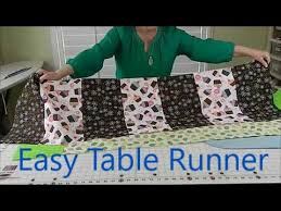 how to make a table runner with pointed ends how to make a table runner youtube