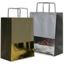 foil metal handle shopping bags jam paper