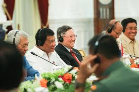 Cabinet President File President Rodrigo Duterte Is Seen Smiling With His Cabinet