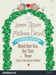 Wedding Invitation Card Template Wedding Invite Card Template Stock Vector 91417001 Shutterstock
