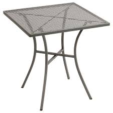 Square Bistro Table Grey Steel Patterned Square Bistro Table 700mm