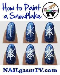 how to paint a snowflake watch a video tutorial here nails