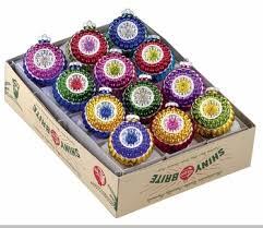 christopher radko shiny brite royal ripple ornaments set of 12
