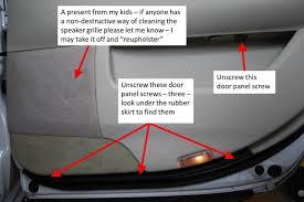 Interior Door Panel Repair Diy Door Inner Handle Lock Cable Repair 2001 Ls430 Clublexus