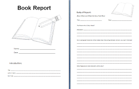 story report template book report format template business