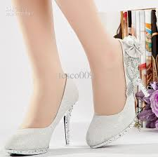 new glitter silver bridal high heels shoes wedding bridal