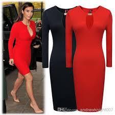 women ol elegant long sleeve dress office lady slim casual