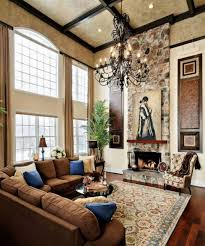 Livingroom Decorating by High Ceiling Rooms And Decorating Ideas For Them