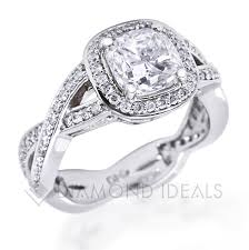 braided engagement ring diamondideals custom bezel engagement ring with a