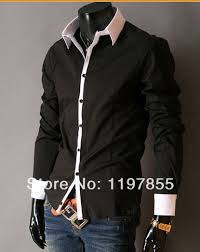 patched mens formal shirts luxury purple shirts casual wear