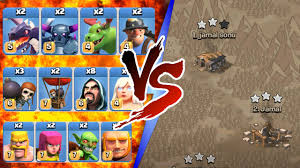 clash of clans all troops clash of clans all max troop troll war insane gameplay 2016