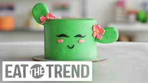 how to make a cactus cake eat the trend youtube