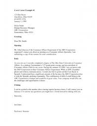 Simple Cover Letter Sample Resume Examples Templates Simple Cover Letter In Spanish For