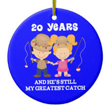 20th wedding anniversary gifts 20th anniversary ornaments keepsake ornaments zazzle