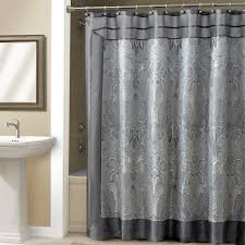Navy Blue And White Bathroom by Bathroom Grey Shower Curtain With Cool Pattern For Bathroom