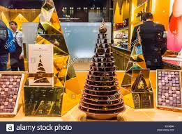 paris france christmas shopping french chocolatier shop