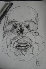 skull tattoo images free free images black and white tattoo skull artwork bone mouth