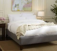 Headboard Bed Frame Fillmore Upholstered Platform Bed Pottery Barn