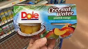 dole fruit bowls dole fruit bowls in slightly sweetened coconut water only 0 24