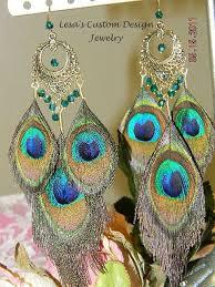 peacock feather earrings s crochet leave rhinestone peacock earrings design