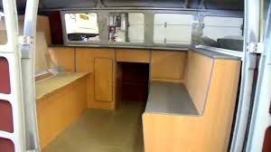 volkswagen camper inside split screen camper interior cabinets youtube