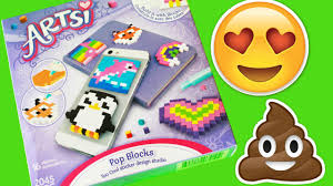 artsi craft kits review and pixel emoji art creation toy