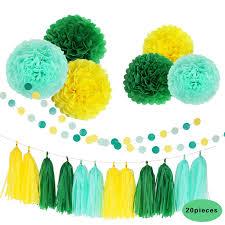 Yellow Pom Pom Flowers - online get cheap yellow tassels birthday party aliexpress com