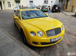 bentley yellow bentley continental flying spur 17 august 2016 autogespot