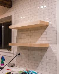 diy kitchen shelves kitchen chronicles diy floating rustic shelves jenna sue design blog