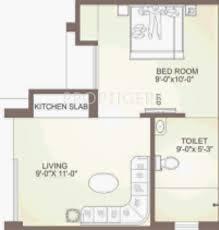 300 sq ft 300 sq ft 1 bhk floor plan image balaji dham weekend cus