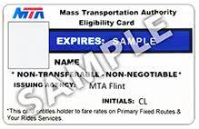 mta flint mta eligibility card