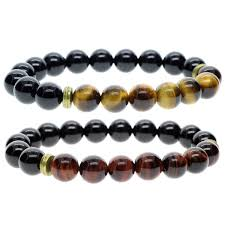 onyx bead bracelet images Amorwing s precious gemstone 8mm tiger eye and onyx beads bracelet