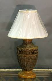 wicker lamp shade table lamps mini accent in promotional specials