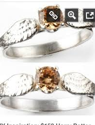 Harry Potter Wedding Rings by Nerdy Engagement Ring Sterling Silver And Cubic Zirconia