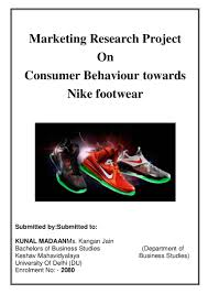 thesis marketing topics marketing research project on nike shoes