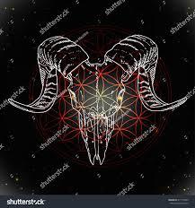 vector animal skull design tattoo art stock vector 417119443