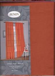 Red Orange Curtains Coral Curtains Ebay