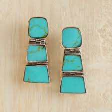 turquoise earrings chilean turquoise earrings national geographic store