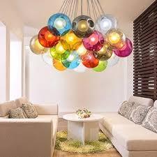 Ball Chandelier Lights Blown Multi Colored Glass Ball Chandelier Pendant Light Buy
