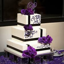 square wedding cakes pictures 1 of 24 square wedding cake with purple flowers photo