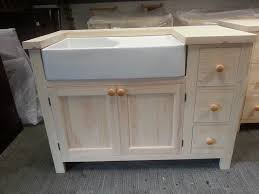 freestanding kitchen unit medium for a belfast sink in solid